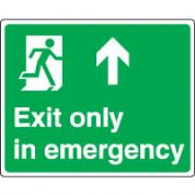 Safe Safety Sign - Exit Emergency Up 079